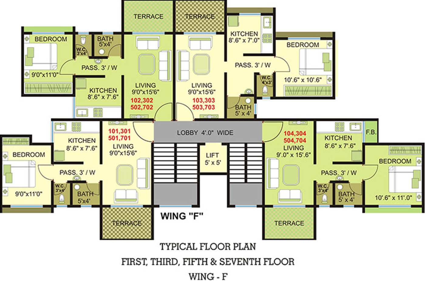 663 Sq Ft 1 Bhk 1t Apartment For Sale In Panvelkar Group