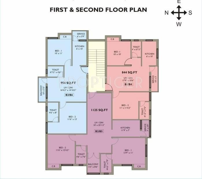 Images for Cluster Plan of Mahalakshmi Kokilambak Nagar Apartment