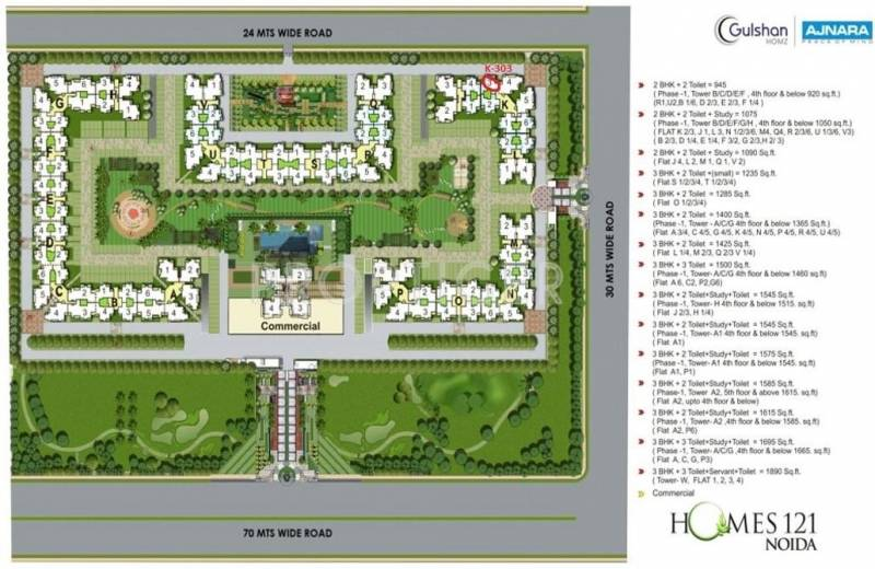 Images for Master Plan of Ajnara Homes121