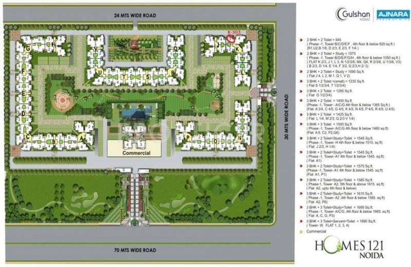 homes121 Images for Master Plan of Ajnara Homes121