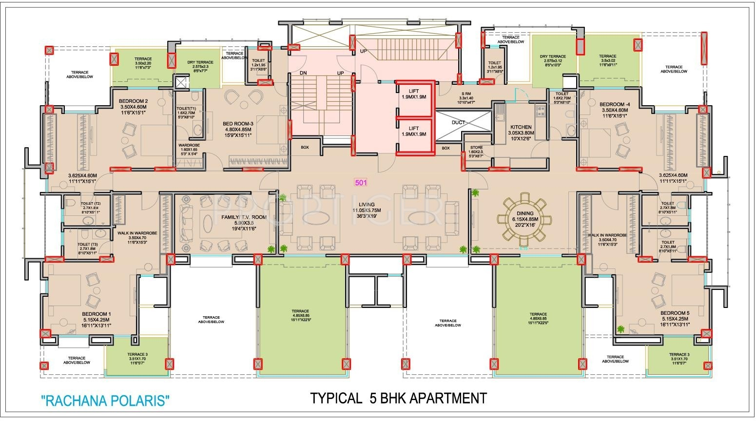3500 sq ft 4 bhk 5t apartment for sale in rachana lifestyle