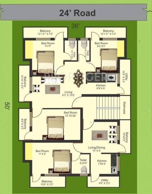 Images for Cluster Plan of Manju Royal Suite