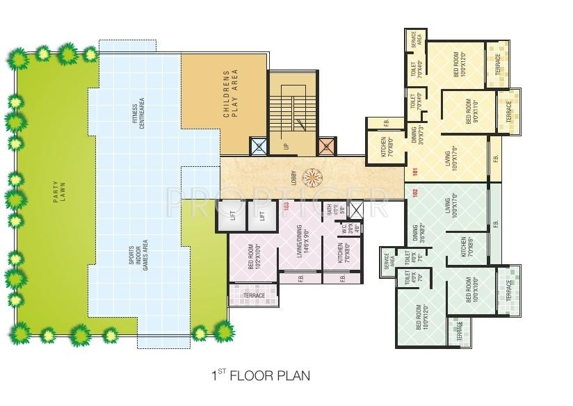 650 Sq Ft 1 Bhk 1t Apartment For Sale In Today Paradise