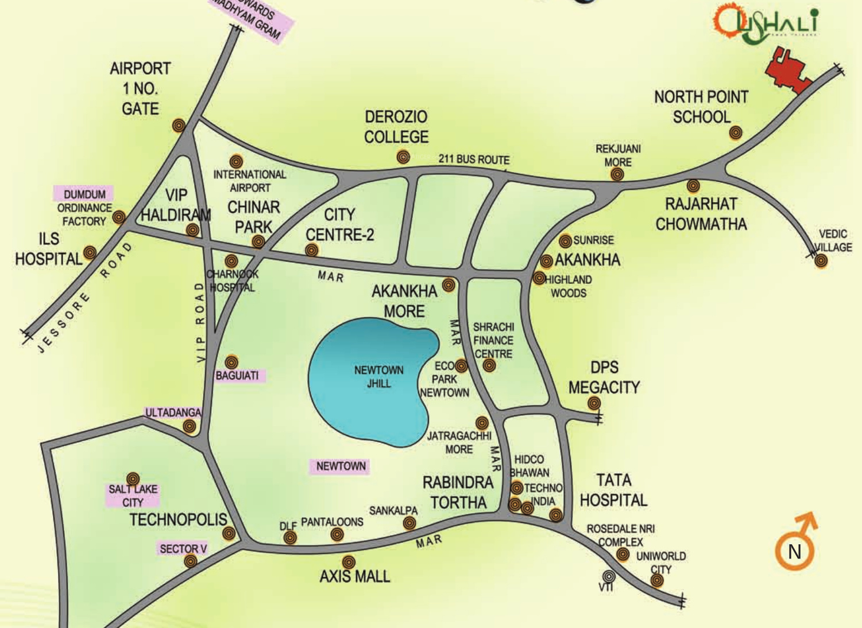 Macwel Ushali In Rajarhat Kolkata Price Location Map