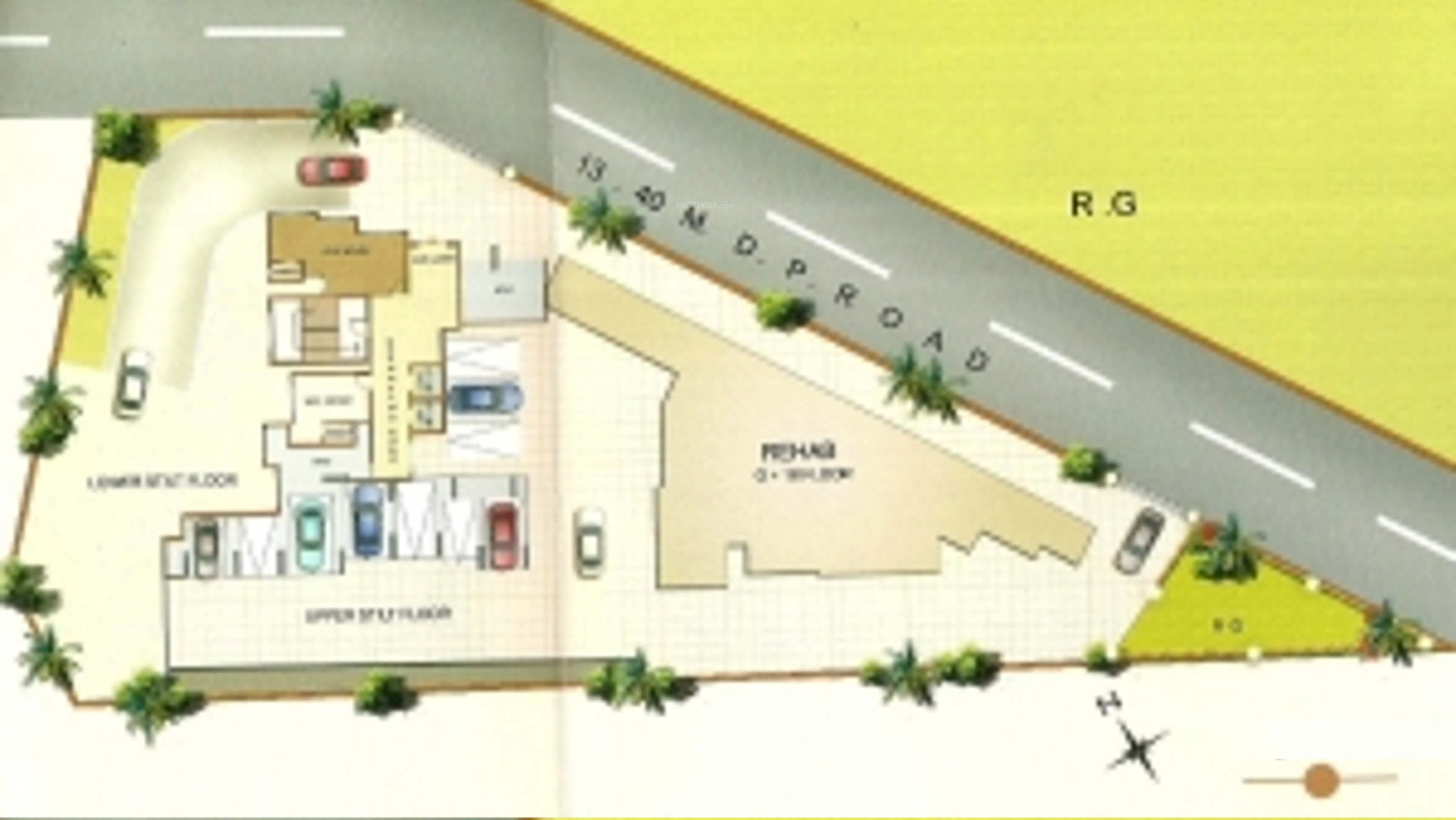720 sq ft 1 bhk 1t apartment for sale in susharda edifice for 720 sq ft apartment floor plan