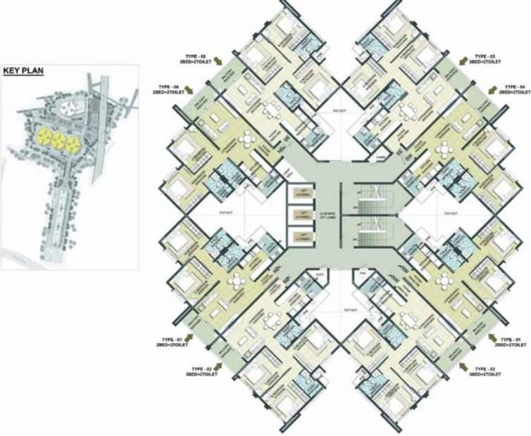 7-gardens Tower A Cluster Plan