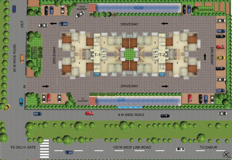delhi-heights Images for Site Plan of SVP Delhi Heights