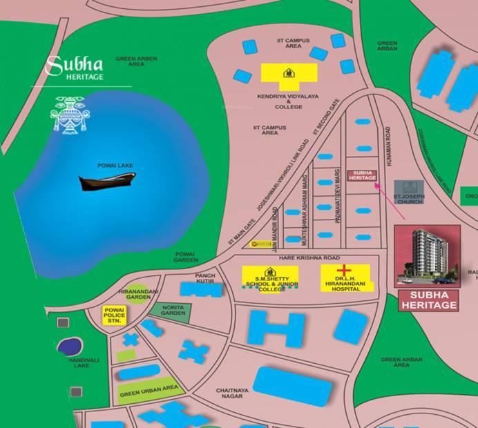 Images for Location Plan of Heritage Tirandaz Subha Niketan CHS Ltd