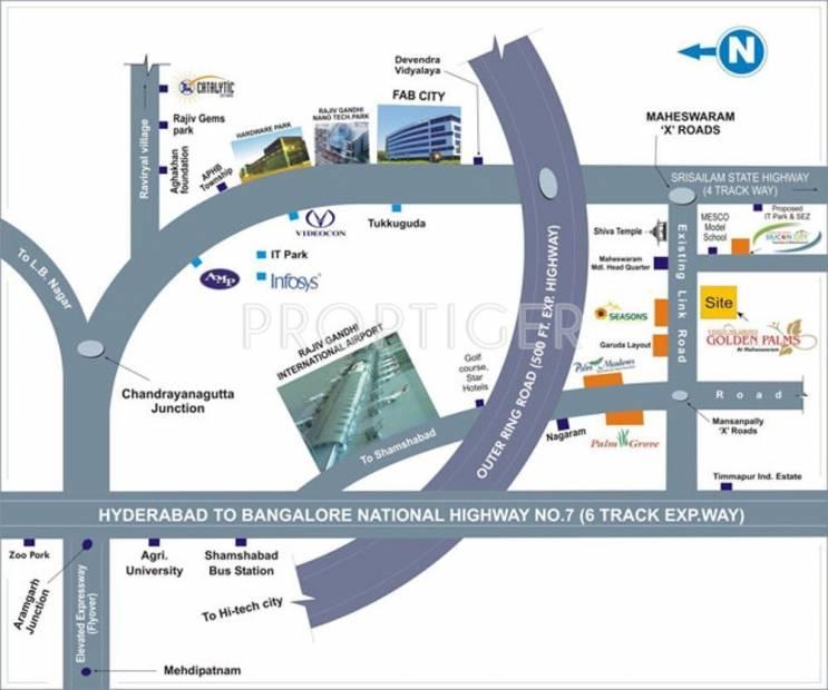 Vision Meadows Estates and Developers Pvt Ltd Golden Palms Location Plan
