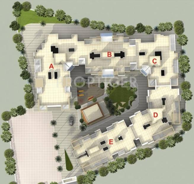 Viniyog Realtors Waterfront Layout Plan