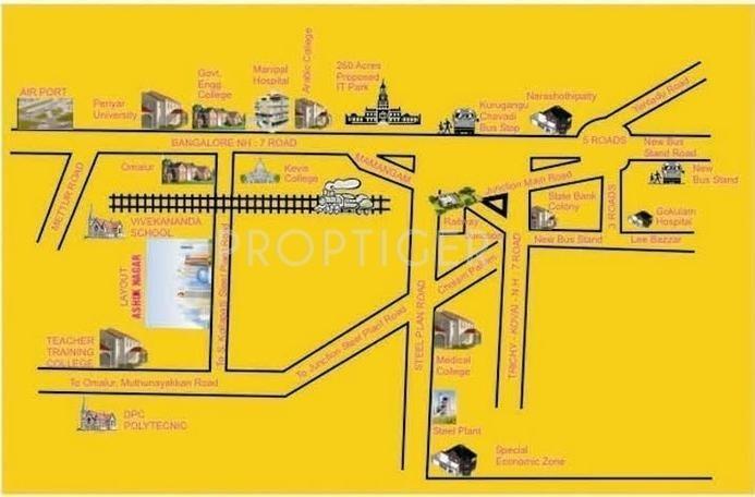 Jemi Housing Ashok Garden Location Plan