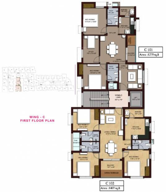 Images for Cluster Plan of Rajkham Silver Crest