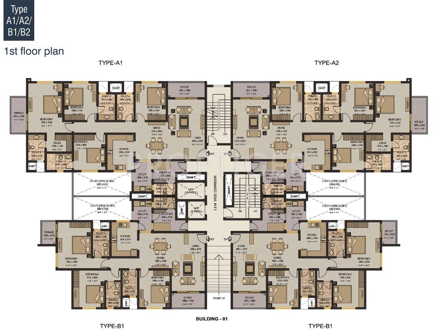 1500 sq ft 3 bhk 3t apartment for sale in sobha limited for Apartment plans for sale