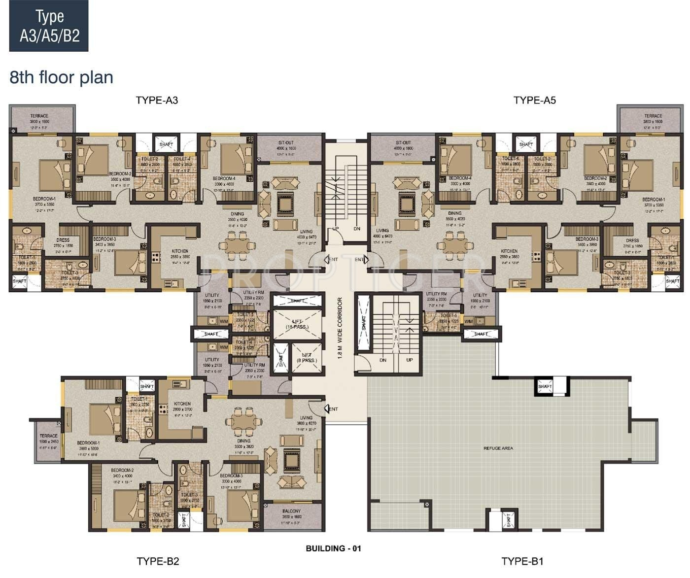 1900 sq ft 3 bhk 3t apartment for sale in sobha limited for Apartment building plans for sale