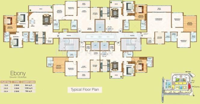 Images for Cluster Plan of Sheth Vasant Oasis