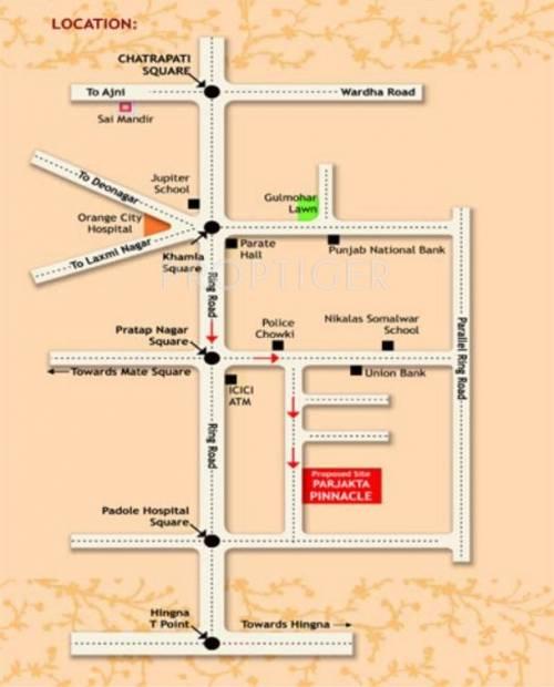 Images for Location Plan of Ashish Prajakta Pinnacle