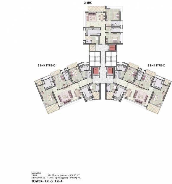 Images for Cluster Plan of Jaypee Kristal Court