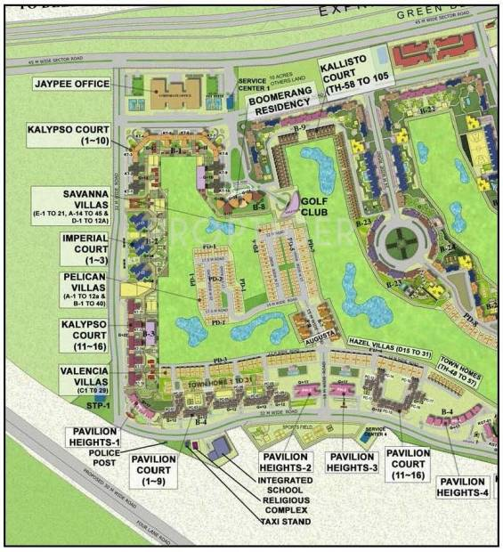 Images for Location Plan of Jaypee Boomerang Residencess