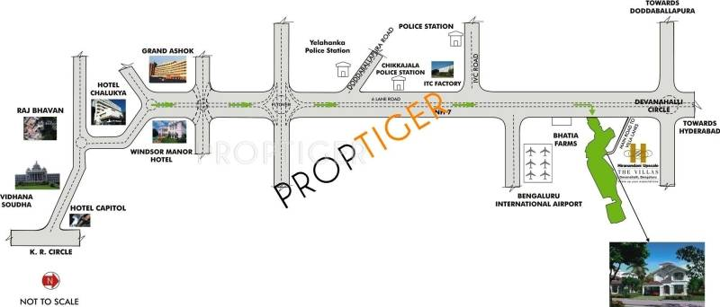 cottages Images for Location Plan of Hiranandani Cottages