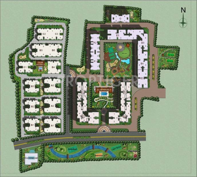 greens Images for Site Plan of Ozone Greens