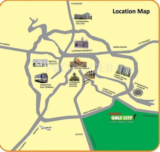 Images for Location Plan of Ansal Sushant Media Enclave