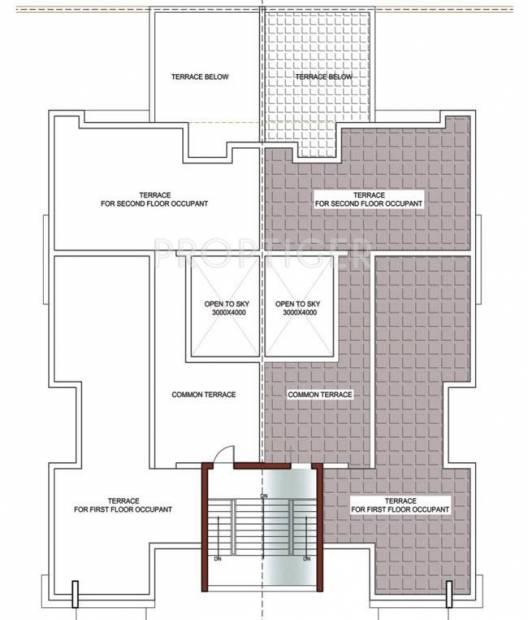 palm-floors Cluster Plan