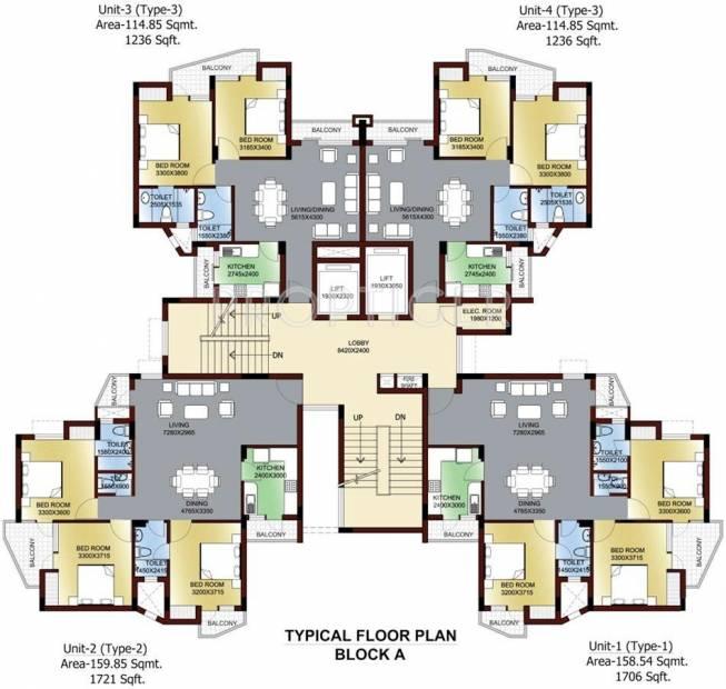 sushant-jeevan-enclave Block A Cluster Plan