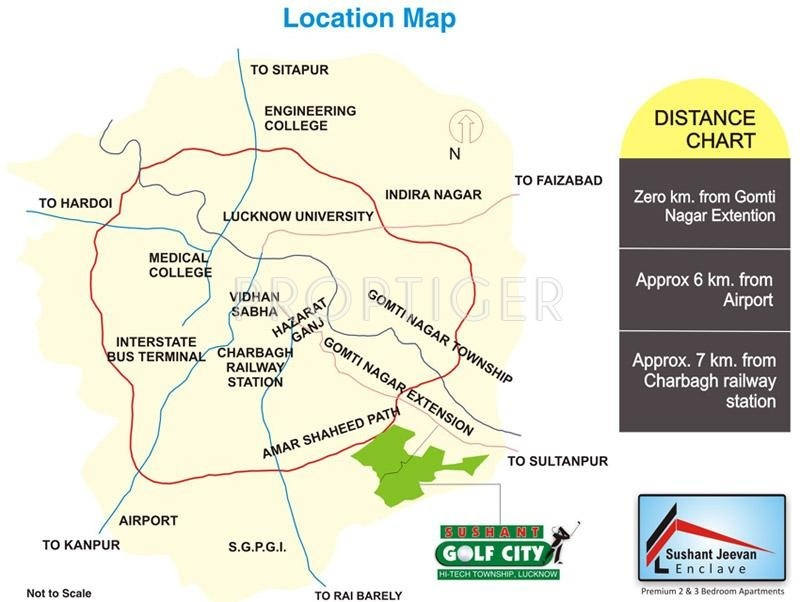 Images for Location Plan of Ansal Sushant Jeevan Enclave