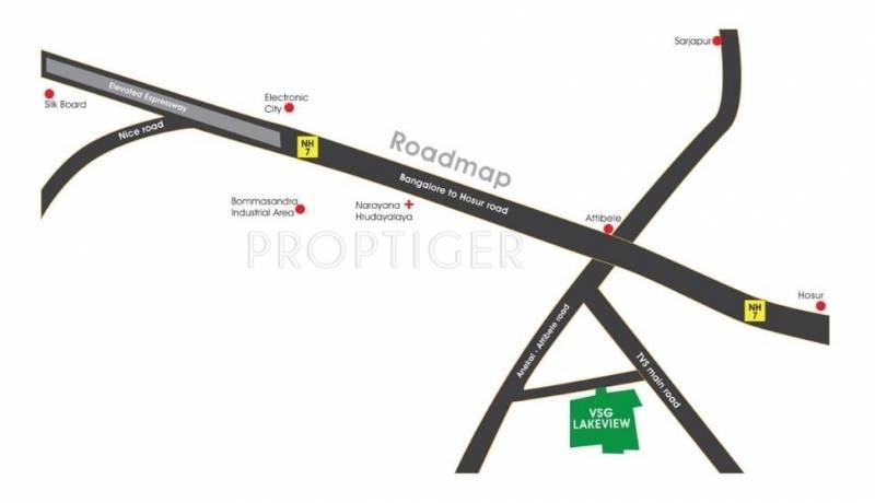VSG Developers VSG Lakeview Location Plan