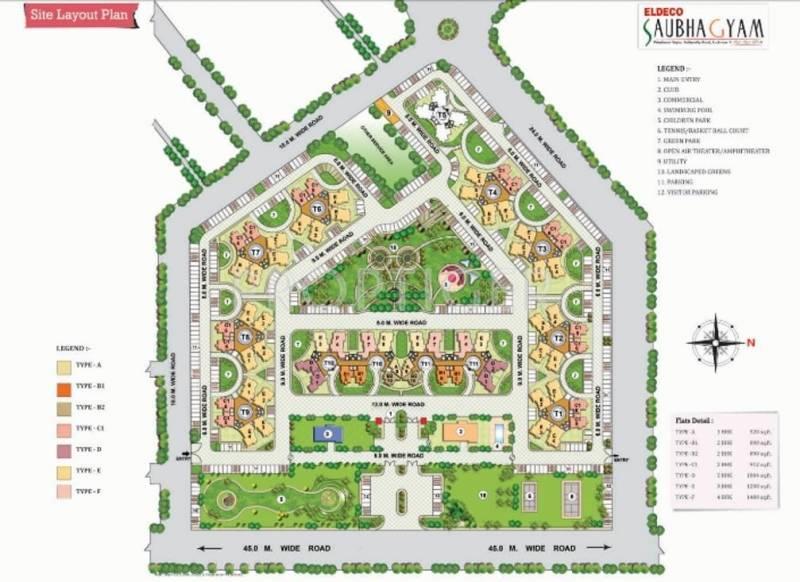 Images for Layout Plan of Eldeco Saubhagyam
