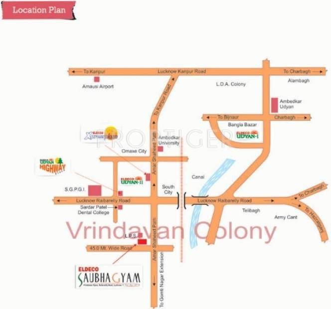 Images for Location Plan of Eldeco Saubhagyam