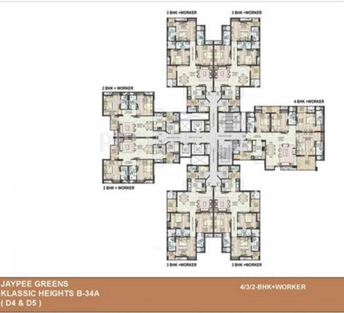 klassic-heights Tower-D4 Cluster Plan