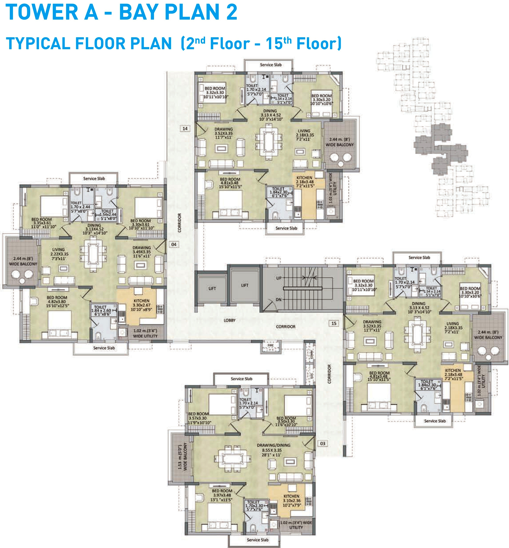 1500 sq ft 3 bhk 3t apartment for sale in kalpataru group for X2 residency floor plan