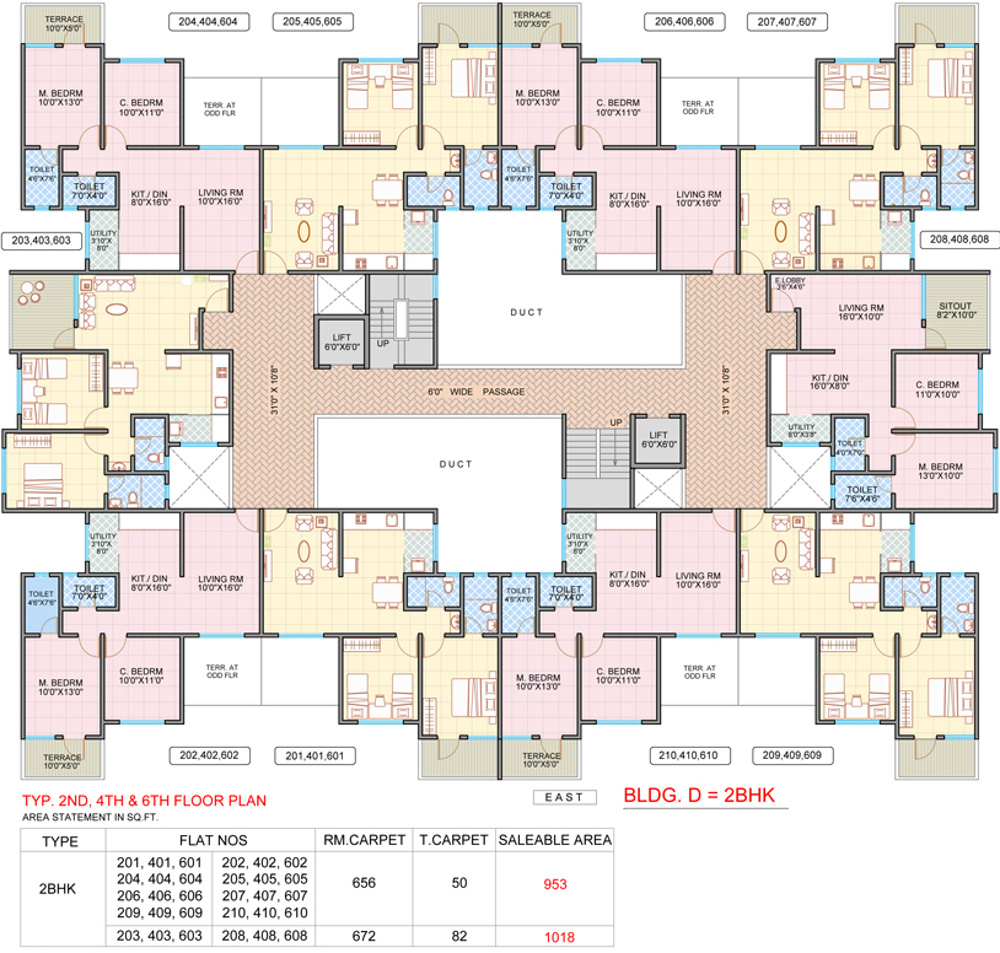 Four Winds Apartments: 709 Sq Ft 1 BHK 1T Apartment For Sale In Golden Bricks