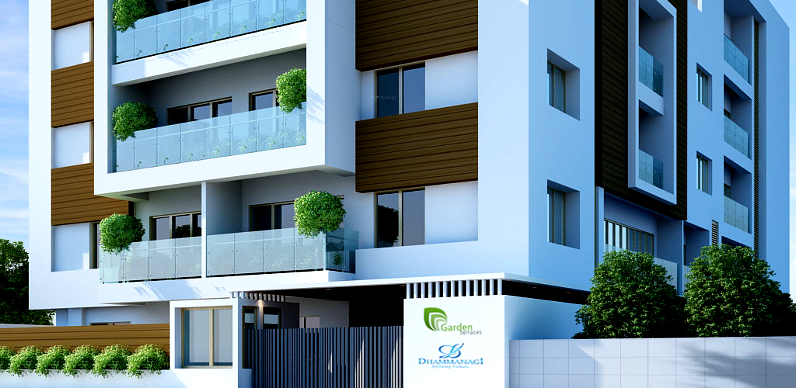 1269 sq ft 2 bhk 2t apartment for sale in dhammanagi for Terrace elevation