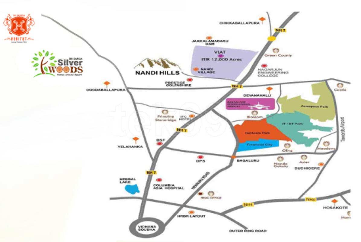 1200 sq ft plot for sale in sri durga habitat for Plurihabitat location
