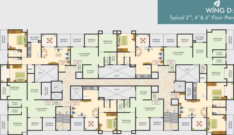 Images for Cluster Plan of Jagdamba Nisarg Residency