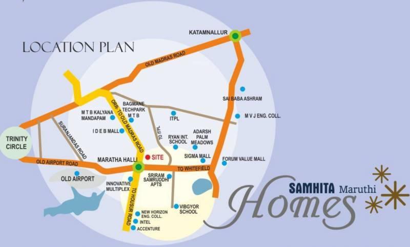 Images for Location Plan of Samhita Maruti Homes