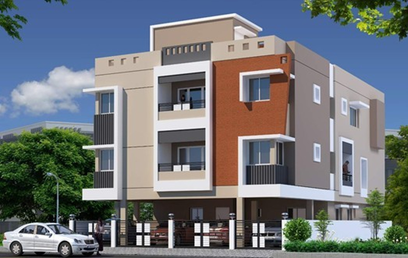 3 Floor Apartment Elevation : Sq ft bhk t apartment for sale in building