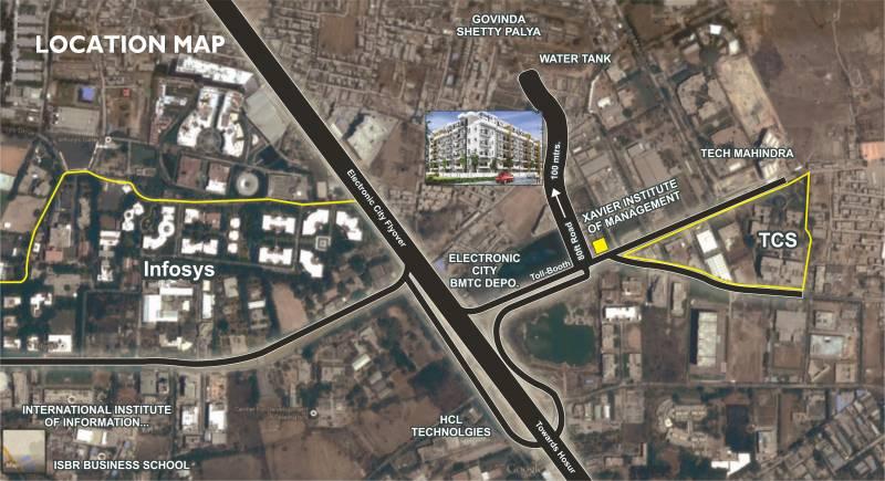 Images for Location Plan of Shree Krishna Builders And Developer Narayana E Golden Abode