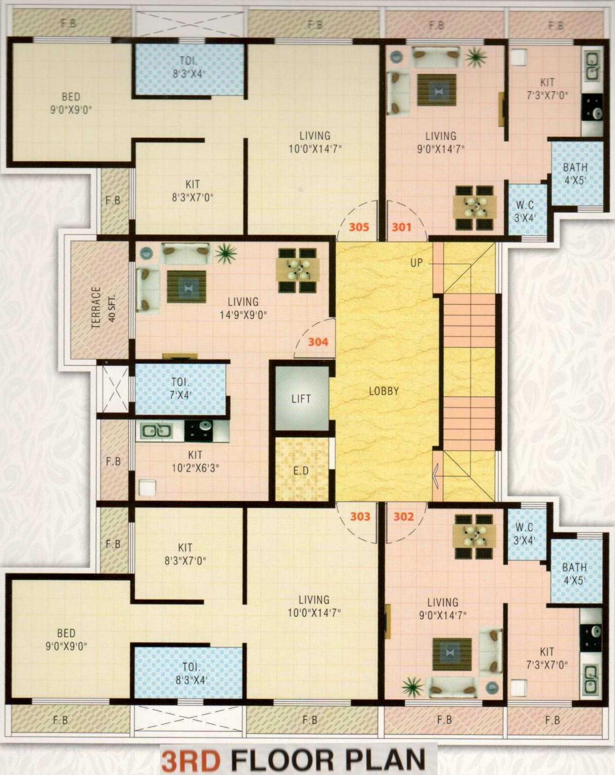 640 Sq Ft 1 Bhk 1t Apartment For Sale In A R Constructions
