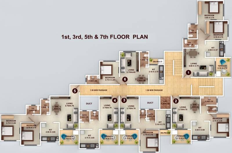 vishwajeet-paradise Images for Cluster Plan of GBK Vishwajeet Paradise
