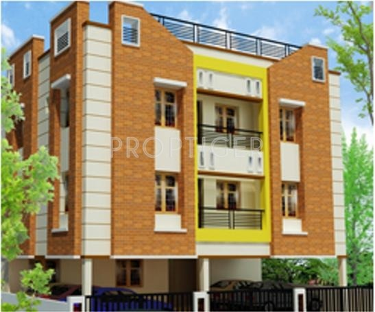 Elevation Stone Chennai : Main elevation image of right angle properties four stone