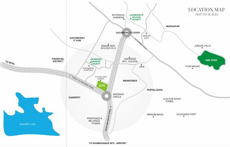 Images for Location Plan of Jayabheri Temple Tree