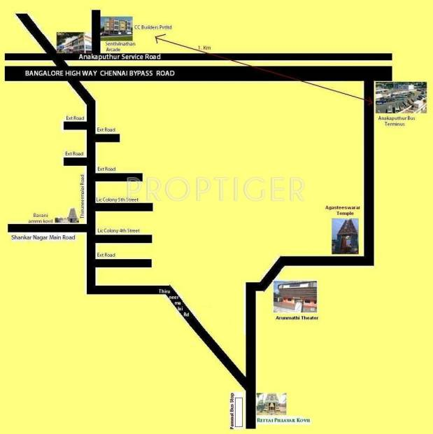 Images for Location Plan of CC Senthilnathan Arcade