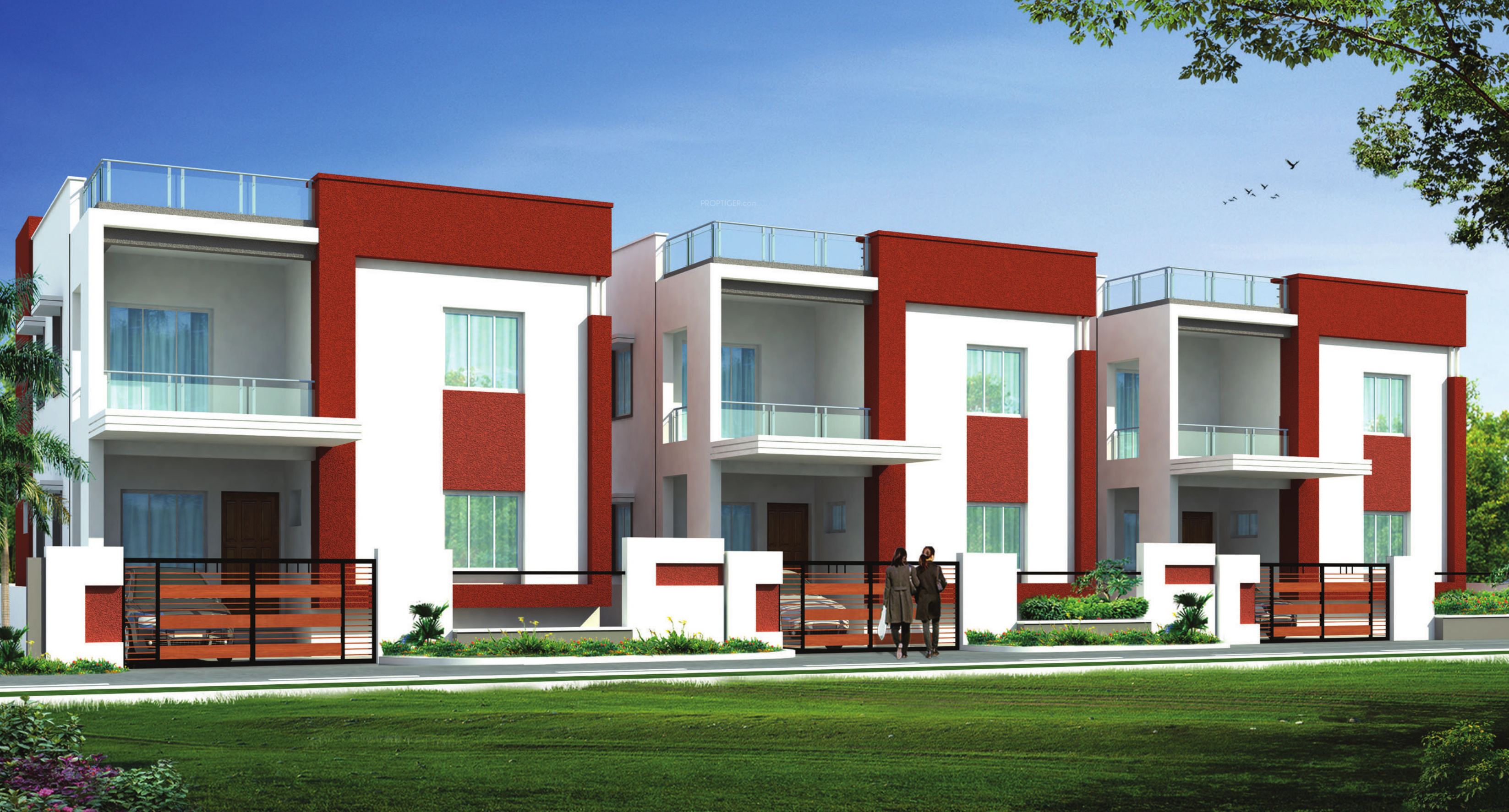 Main elevation image 3 of zr infra shangrila villas unit for Ashoka ala maison kompally