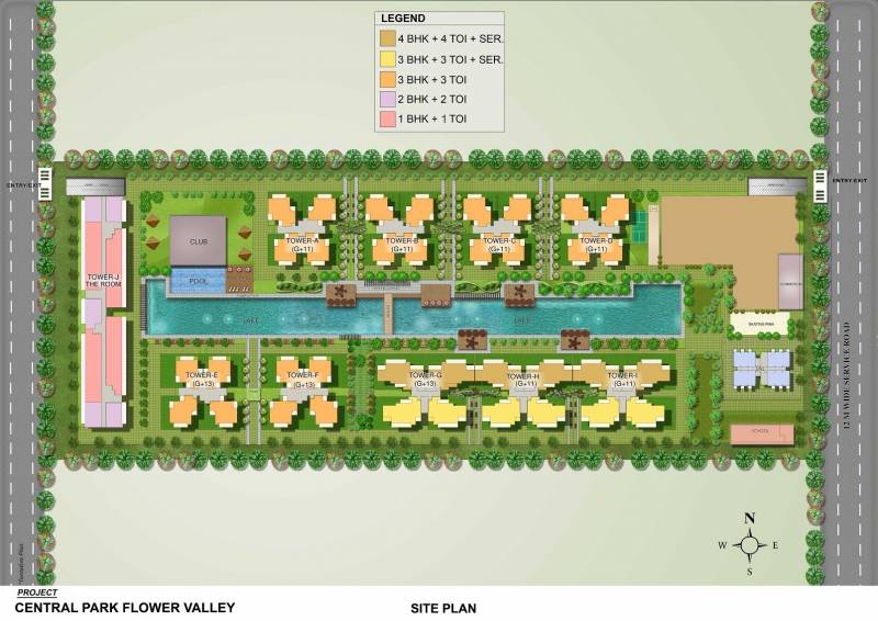 Images for Site Plan of Central Park Aqua Front Towers