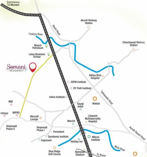residency Images for Location Plan of Somani Somani Residency