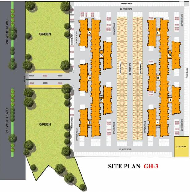 Images for Site Plan of Wave Residency