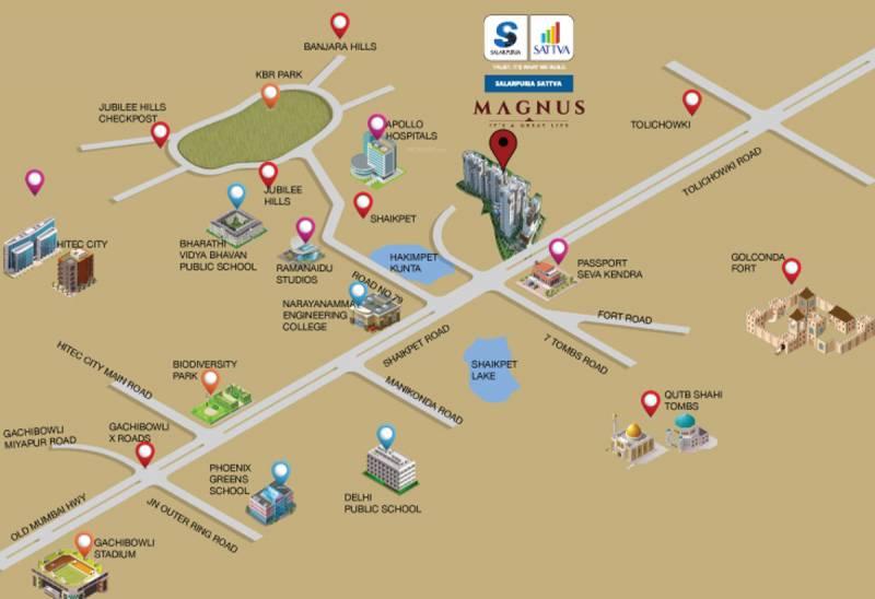 Images for Location Plan of Salarpuria Sattva Magnus